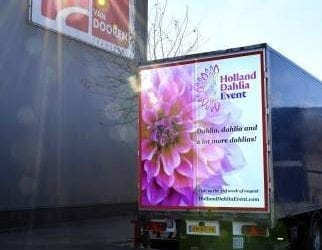 Promotie Holland Dahlia Event 2018 door Van Dooren Transport